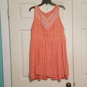 Peach lace dress